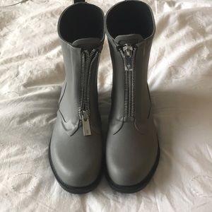 New Smoke/Fog Gray Frye Mid-Calf Rain Moto Boots